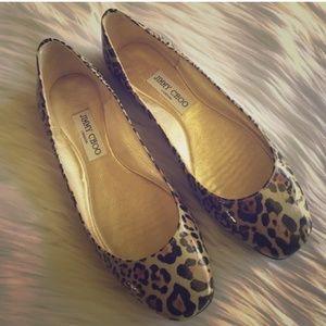 Reposh Jimmy Choo leopard Flats
